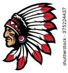 american native chief head... | Shutterstock .eps vector #375224437