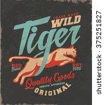 vintage college print. tee... | Shutterstock .eps vector #375251827