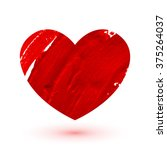 red painted heart. love and... | Shutterstock .eps vector #375264037