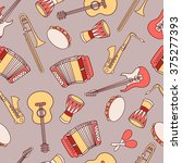 Musical Instruments Hand Drawn...