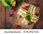 club sandwich with cheese ... | Shutterstock . vector #375292723