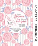 invitation wedding card with... | Shutterstock .eps vector #375314407