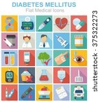 diabetes medical flat color... | Shutterstock .eps vector #375322273