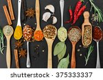 fragrant seasonings and spices... | Shutterstock . vector #375333337