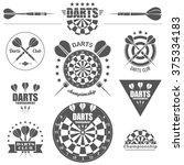 Darts Labels Set  Badge  Vecto...