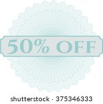 50  off inside money style... | Shutterstock .eps vector #375346333