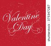 vintage valentine day artwork | Shutterstock .eps vector #375347287