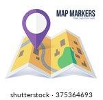 vector flat violet marker... | Shutterstock .eps vector #375364693