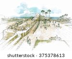 an area of the archaeological... | Shutterstock . vector #375378613