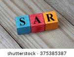 sar  saudi arabian riyal ... | Shutterstock . vector #375385387