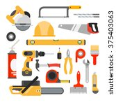 home repair tools vector icons. ... | Shutterstock .eps vector #375403063