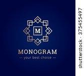 vector elegant monogram logo.... | Shutterstock .eps vector #375455497