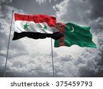 syria   turkmenistan flags are...   Shutterstock . vector #375459793