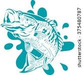 fish jumping vector   Shutterstock .eps vector #375480787