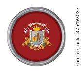 3d button flag of capital... | Shutterstock .eps vector #375498037