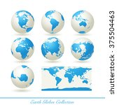 collection of earth globes... | Shutterstock .eps vector #375504463