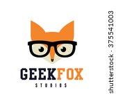 geek fox logo fox logo wolf... | Shutterstock .eps vector #375541003