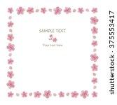 sakura frame  square  | Shutterstock .eps vector #375553417