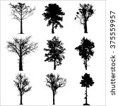 set tree collection vector | Shutterstock .eps vector #375559957