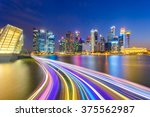 landscape of the singapore... | Shutterstock . vector #375562987