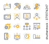 business development icons | Shutterstock .eps vector #375576247