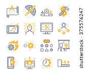 business development icons.... | Shutterstock .eps vector #375576247