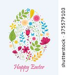 easter egg with flower concept | Shutterstock . vector #375579103