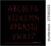 alphabet   number   handwriting ... | Shutterstock .eps vector #375581023