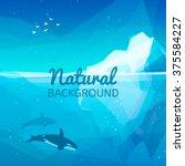 iceberg nature background.... | Shutterstock .eps vector #375584227