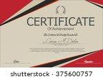 modern certificate or diploma... | Shutterstock .eps vector #375600757