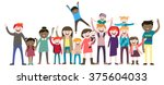 a big family   a lot of people  ... | Shutterstock .eps vector #375604033