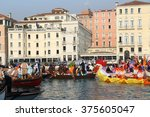 canal grande or gran canal... | Shutterstock . vector #375605047