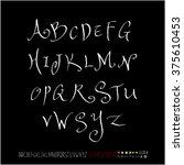 alphabet   number   handwriting ... | Shutterstock .eps vector #375610453