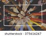 hands in diverse casual people... | Shutterstock . vector #375616267