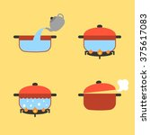 vector set of info graphic... | Shutterstock .eps vector #375617083