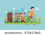 Urban Fitness. Cool Vector Fla...