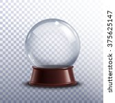 realisitc 3d snow globe toy... | Shutterstock .eps vector #375625147