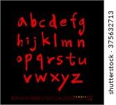 alphabet   number   handwriting ... | Shutterstock .eps vector #375632713