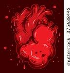 heart love illustration. | Shutterstock .eps vector #375638443