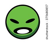 green mad circle with face... | Shutterstock .eps vector #375680857