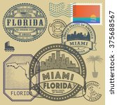 stamp set with the name and map ... | Shutterstock .eps vector #375688567