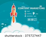 content marketing design and... | Shutterstock .eps vector #375727447