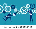 engine repair. concept business ... | Shutterstock .eps vector #375731917