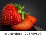 Small photo of Sexy strawberries (Fragaria) - small vitamin bomb and tidbits. aphrodisiac