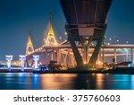 bhumibol bridge  the industrial ...   Shutterstock . vector #375760603