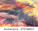sunset. abstract painting color ... | Shutterstock . vector #375768817