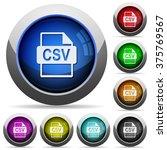 set of round glossy csv file...