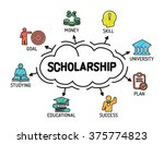 scholarship. chart with... | Shutterstock .eps vector #375774823