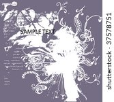 floral design | Shutterstock .eps vector #37578751