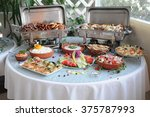 catering services background... | Shutterstock . vector #375787993